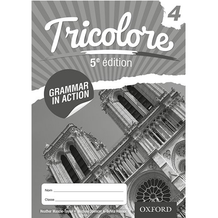 Tricolore 5e édition: Grammar in Action 4 (8 Pack) (ISBN: 9780198397267)