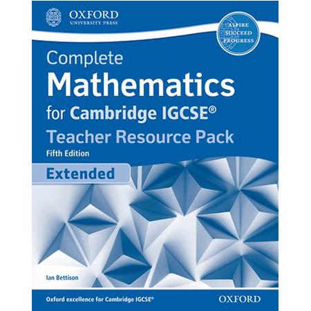 Complete Mathematics for Cambridge IGCSE® Teacher Resource Pack (Extended) (ISBN: 9780198428077)
