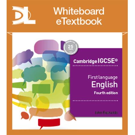 Cambridge IGCSE First Language English 4th edition Whiteboard Etextbook (ISBN: 9781510420298)