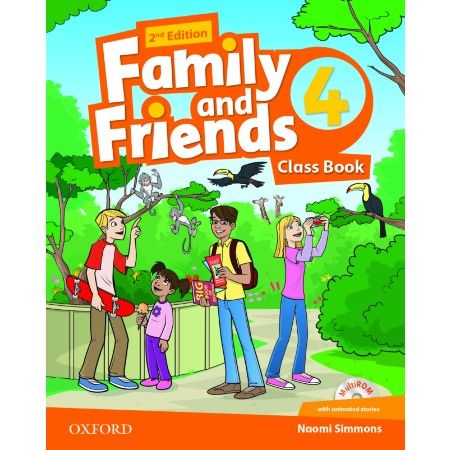 Family and Friends (2nd Edition) 4 Class Book with MultiROM (ISBN: 9780194808323)