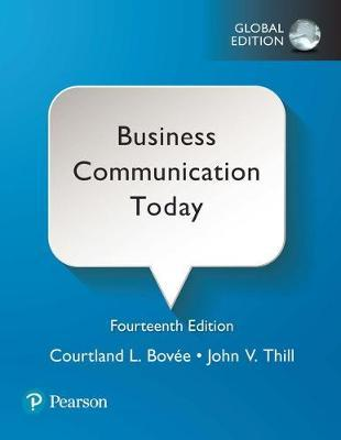 Business Communication Today, Global Edition (ISBN: 9781292215341)