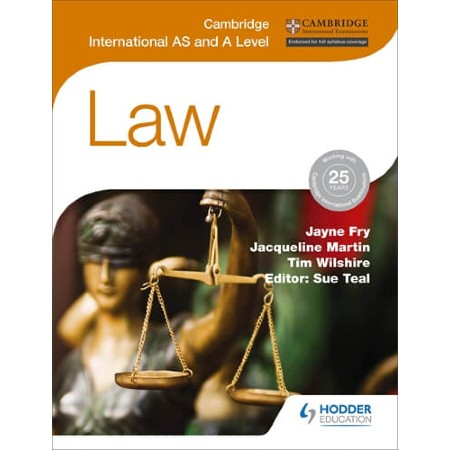 Cambridge International AS and A Level Law (ISBN: 9781471866487)
