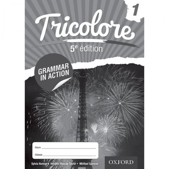 Tricolore 5e édition Grammar in Action Workbook 1 (8 pack) (ISBN: 9781408527436)
