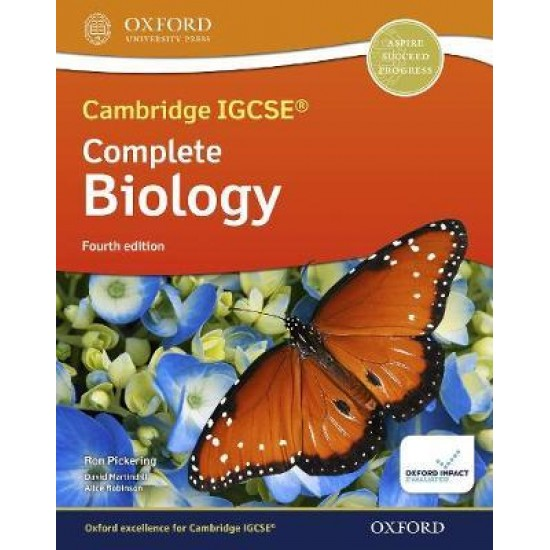 CAMBRIDGE IGCSE & O LEVEL COMPLETE BIOLOGY: STUDENT BOOK (FOURTH EDITION) ( ISBN: 9781382005760)