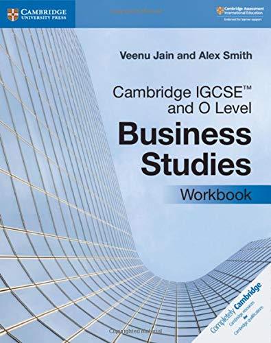 Cambridge IGCSE and O Level Business Studies Workbook (ISBN:9781108710008)