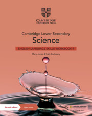 Cambridge Lower Secondary Science English Language Skills Workbook Stage 9 (1 year) (ISBN:9781108799065)