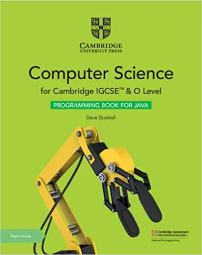 Cambridge IGCSE™ and O Level Computer Science Programming Book for Java with Digital Access(ISBN:9781108910071)