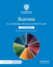 Cambridge International AS & A Level Business Coursebook with Digital Access (2 Years) (ISBN:9781108921220)