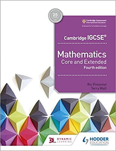 Cambridge IGCSE Mathematics Core and Extended 4th edition (ISBN:9781510421684)